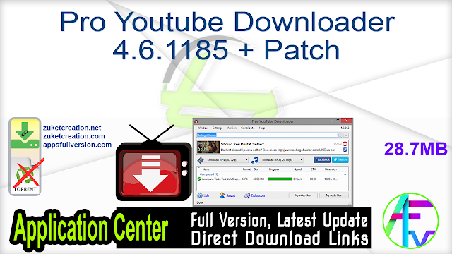 Pro Youtube Downloader 4.6.1185 + Patch