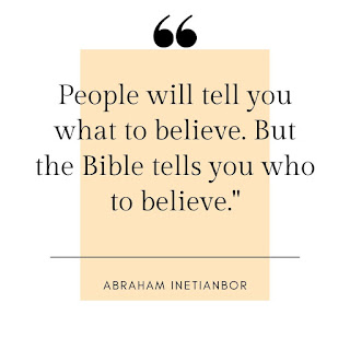 Abraham Inetianbor on belief
