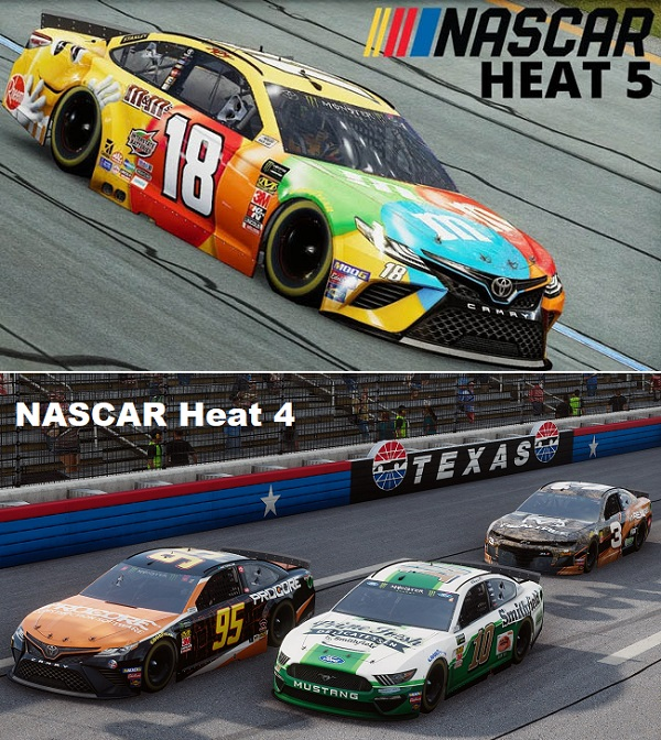 Differences between NASCAR Heat 5 vs NASCAR Heat 4
