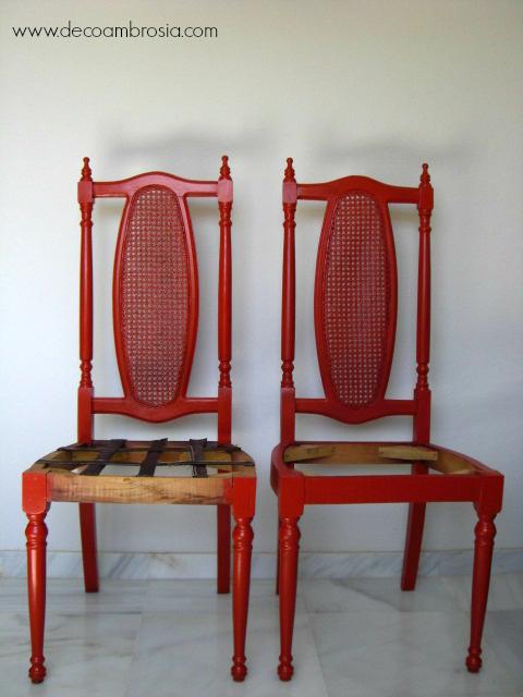 diy silla roja
