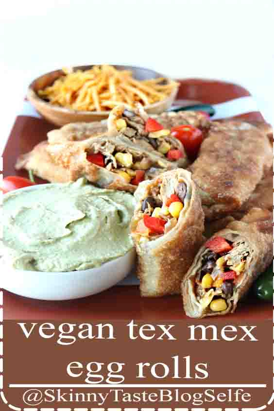 4.7 | ★★★★★  You ll be hooked after 1 bite of these Cheesecake Factory Copycat vegan Tex Mex Egg Rolls, paired with a delicious avocado cream sauce. The perfect party appetizer. Recipe  #appetizer #copycat #recipe #football #ad #twindragonwrappers #wontons #eggrolls #potstickers