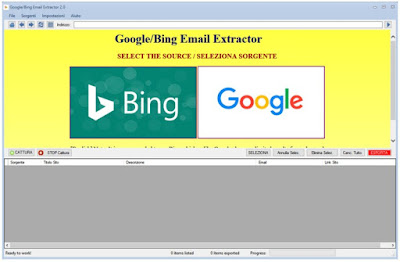 Google Bing Email Extractor 4.0 with Patch Key - Email Tool