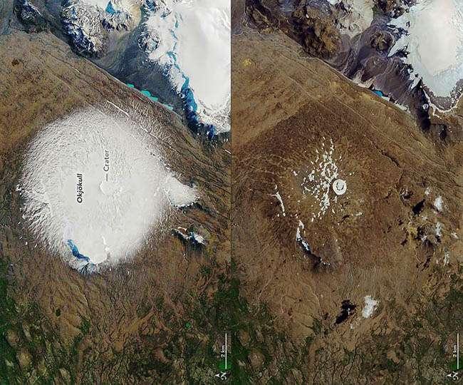 The Okjokull glacier, Iceland