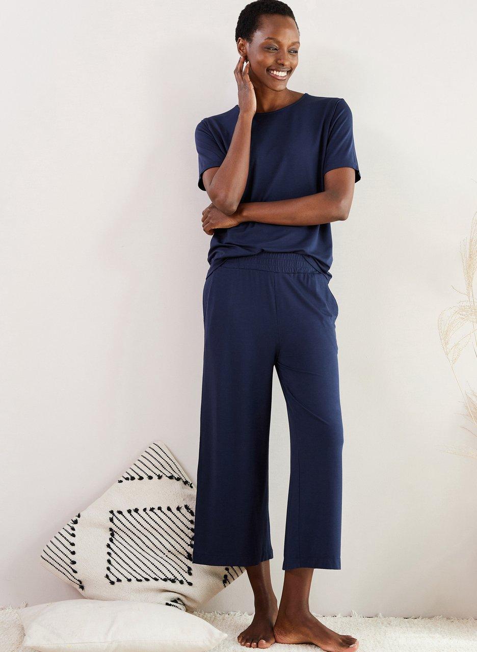 my midlife fashion, Baukjen peace lyocell cropped trousers