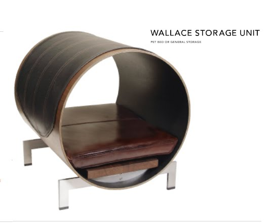 The Wallace Storage Unit doubles as a pet bed