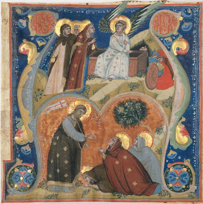 Manuscript Illumination, from an Antiphonary, ca. 1320, Nerius Italian, Bolognese