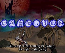 Castlevania Symphony of the Night Game Over screen