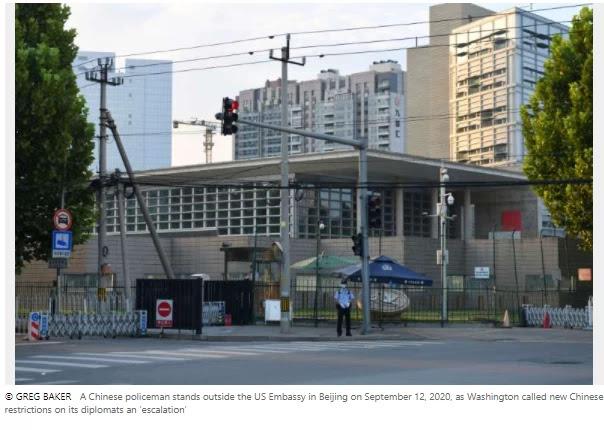 US bans Chinese diplomatic staff