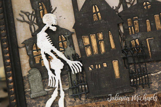Haunted House Halloween Frame by Juliana Michaels featuring Tim Holtz and Sizzix