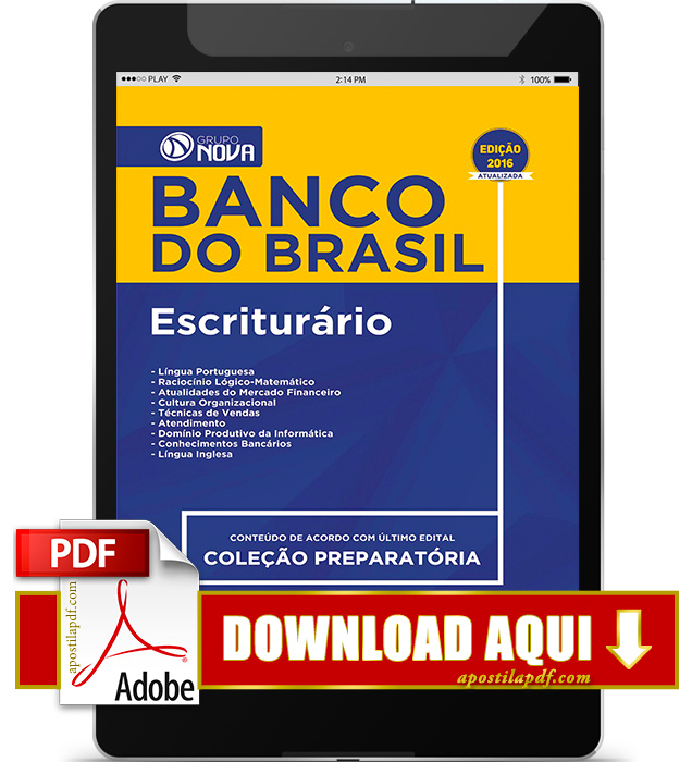 Apostila Banco do Brasil 2016 PDF Download