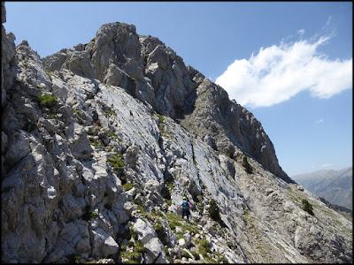 Hacia el Calderer, Pedraforca