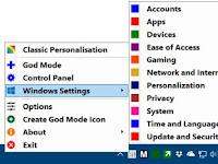 اداة صغيرة للوصول إلى جميع إعدادات نظام ويندوز Windows 10 بسرعة و سهولة