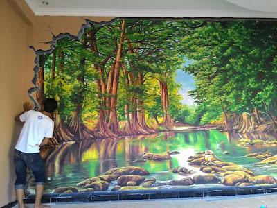 Jasa mural kalimantan, lukis dinding kalimantan