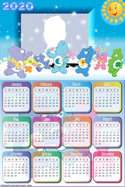 Care Bears: Free Printable 2020 Calendar