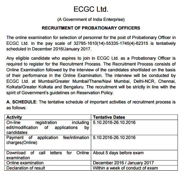 www.ecgc.in Recruitment
