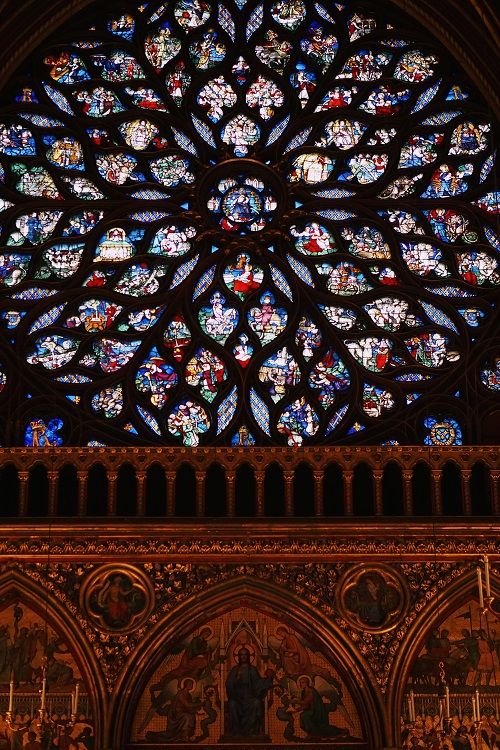 Strained glass at Saint Chapel (Similar to Notre Dame)