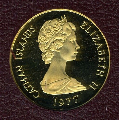 Cayman Islands 50 dollars Proof gold coin