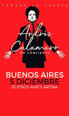 """Andrés Calamaro cierra su gira """"Cargar la suerte"""" en el Buenos Aires Arena."""