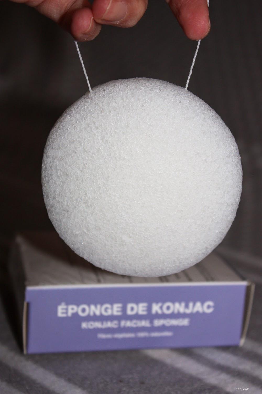 nettoie et exfolie Eponge Konjac
