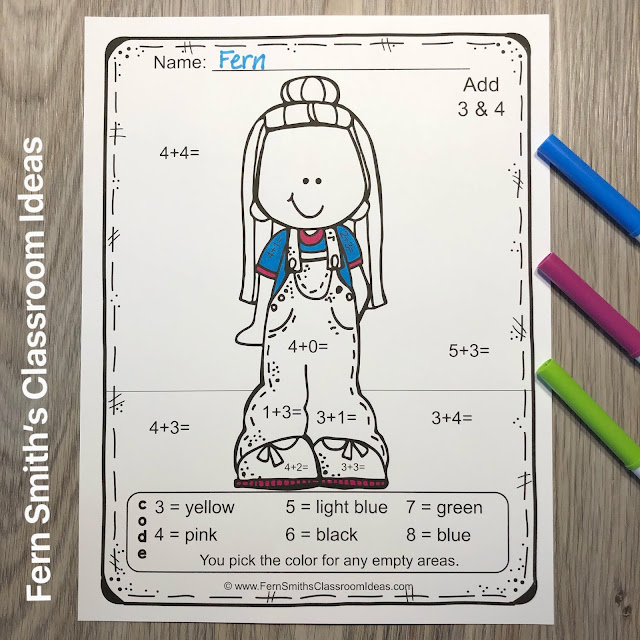 Click Here to Download This Back to School Happy Students Color By Number Addition and Subtraction Printables Resource Bundle for Your Classroom Today!