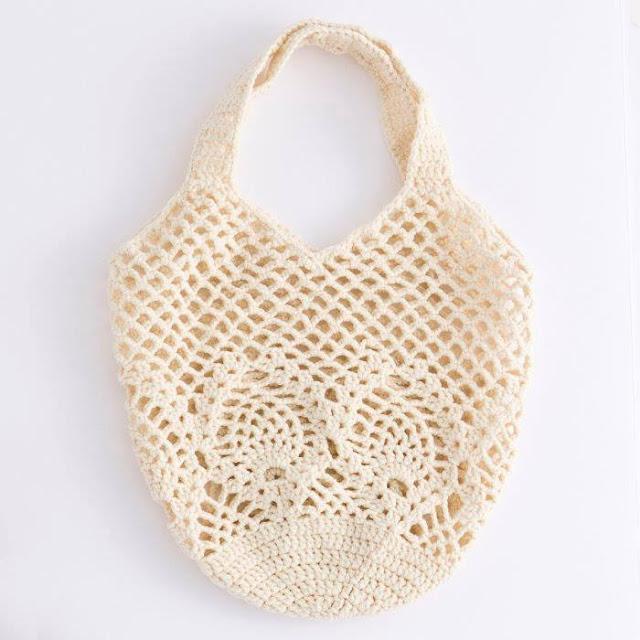 Bolso Blanco a Crochet