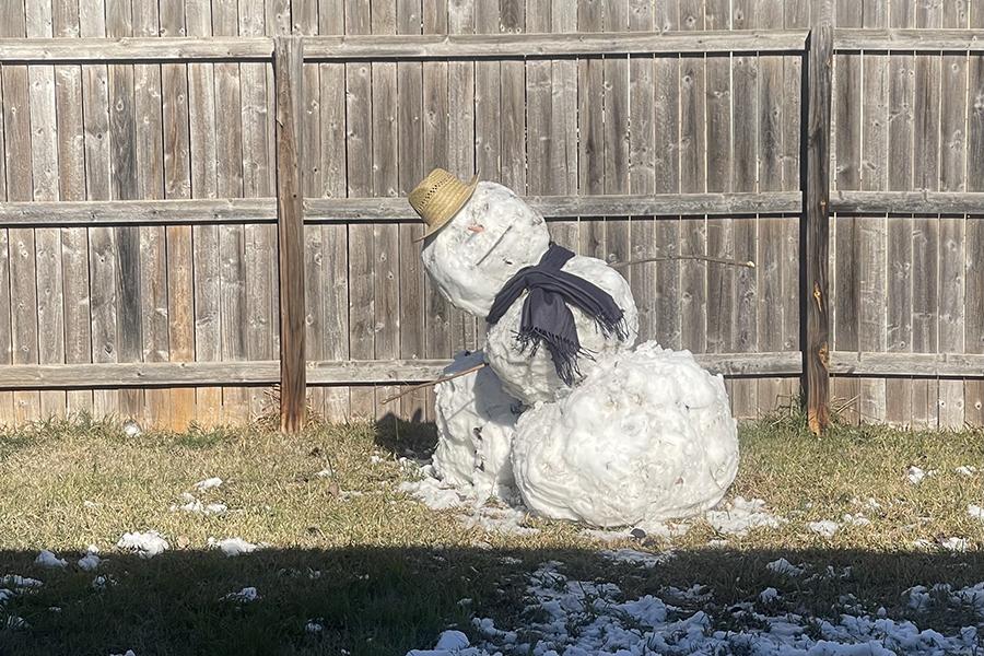 Falling Snowman