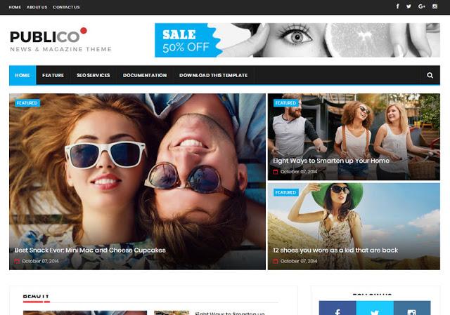 Publico elegant blogger template responsive