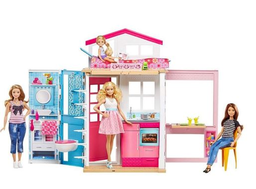 Barbie Mattel 2-Story House With Furniture And Accessories (3-10 Years)