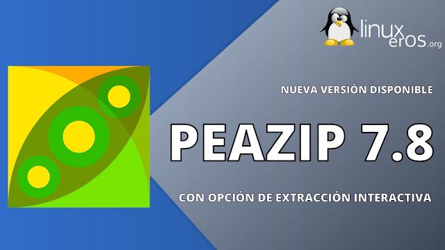 PeaZip 7.8, con opción de extracción interactiva y más