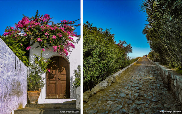 Trilha para a Acrópole de Lindos, Grécia