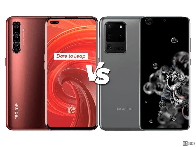 Realme X50 Pro 5G vs Samsung Galaxy S20 Ultra Specs Comparison
