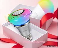 Logo Gioca e vinci gratis altoparlanti lampadine bluetooth e lampadina intelligente