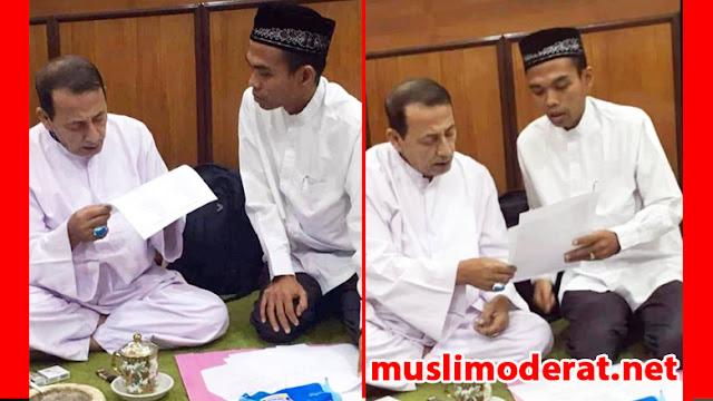 Berbaiat ke Habib Luthfi, Ustad Abdul Somad Resmi Berthariqah