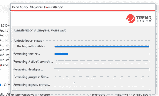 uninstall trend micro officescan