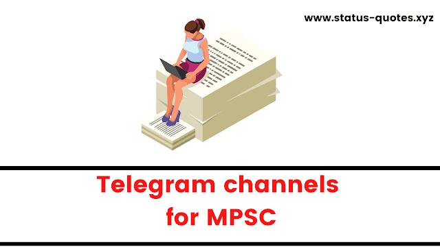 Telegram Channels For MPSC Preparation【2021】