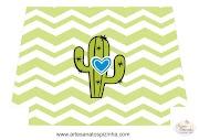 Arte Digital para necessaire tema Cactus