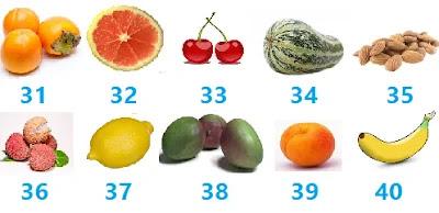 اسماء الفواكه وصورها بالفرنسية