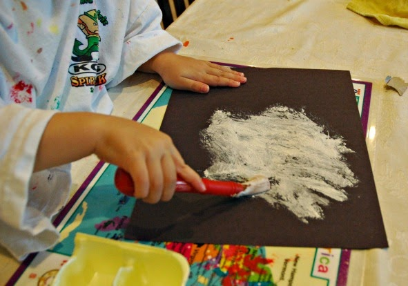 moon craft for kids