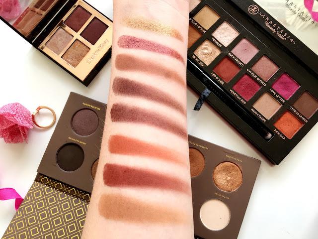 Autumnal Eyeshadow Palette Swatches