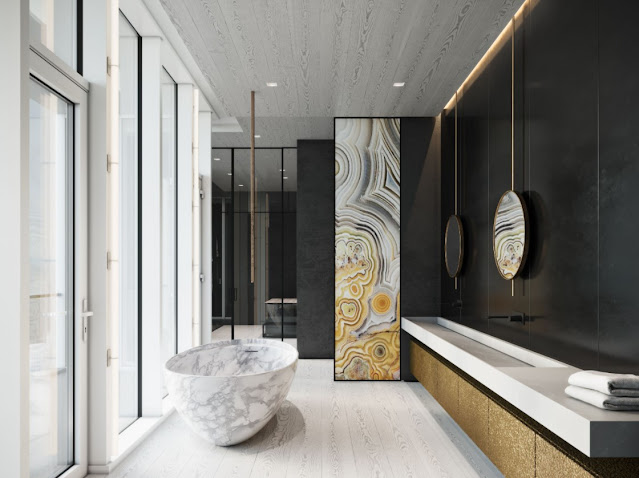 contemporary master bathroom design ideas