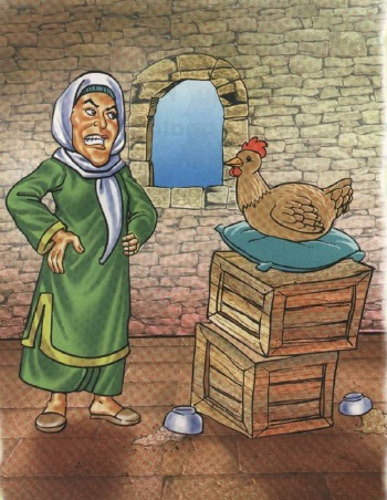 The Greedy Old Woman and Her Hen   Kids moral stories