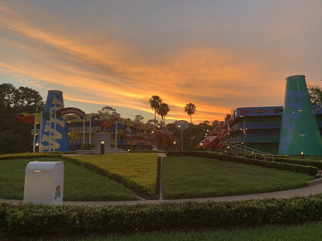 all star sports resort sunset