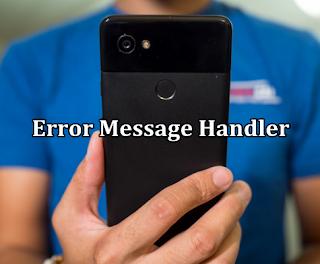 Cara Memperbaiki Kamera Hp Android Yang Error Message Handler
