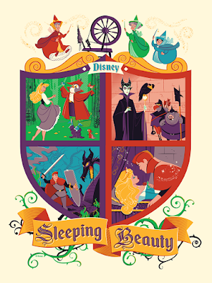 Disney's Sleeping Beauty Screen Print by Dave Perillo x Bottleneck Gallery