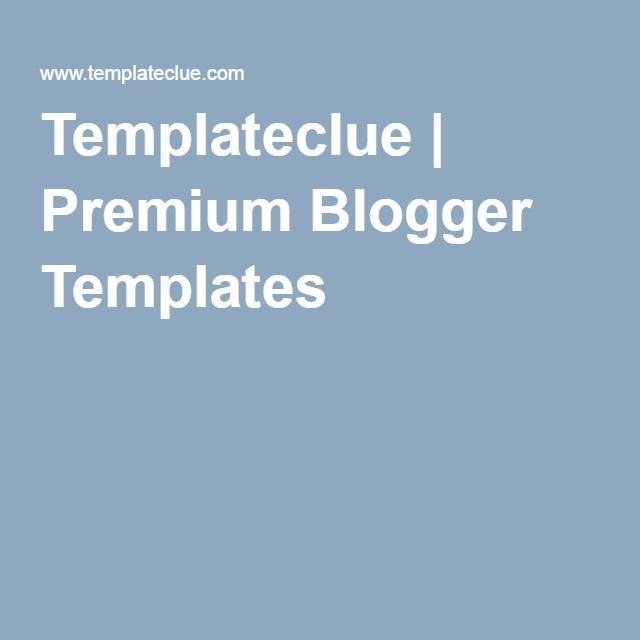 SEO Responsive Fast Loading Blogger Templates [templateclue]