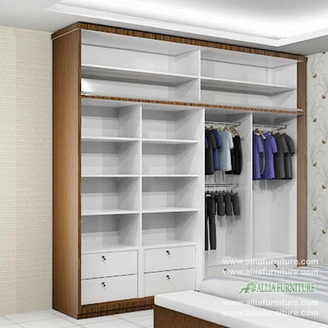 lemari minimalis unit 4 pintu model pure