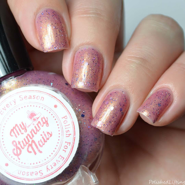 pink frosty nail polish