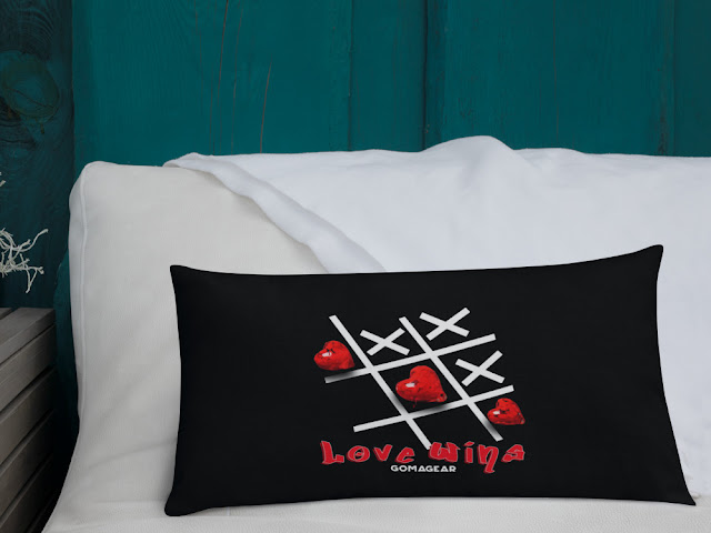 GOMAGEAR LOVE WINS PILLOW - RECTANGLE