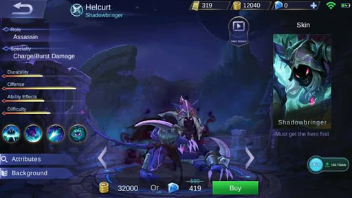 New Hero Helcurt, the Shadowbringer (Skills + Video)