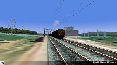 Fastline Simulation - North Staffs Minerals: Double headed Sulzer Type 2s depart from Meaford Power Station with empty mineral wagons in North Staffs Minerals a route for RailWorks Train Simulator 2012.
